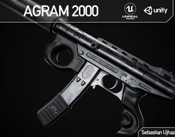 Agram 2000 - Game Ready PBR Asset weapon 3D model