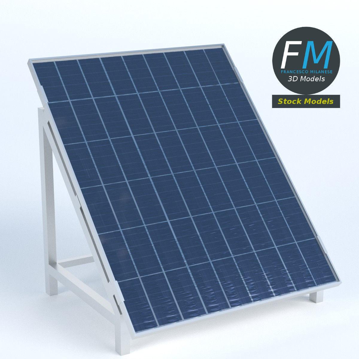 Solar Panel on stand