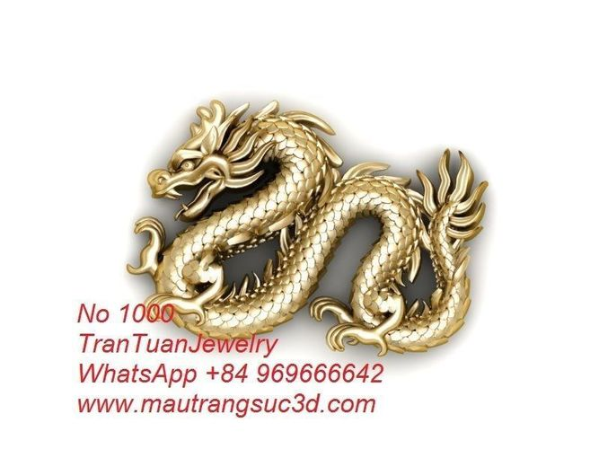 efccd0f795aa48 1000 Dragon For Pendant or Ring or Bracelets Men 3D print model