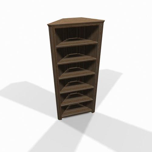 Admirable Wooden Corner Shelf 3D Model Download Free Architecture Designs Itiscsunscenecom