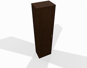 Narrow wooden shelf 3D model
