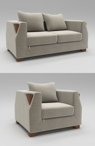 Stylish Luxury Sofa 3D Model MAX FBX