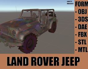 3D asset Land Rover Military Jeep