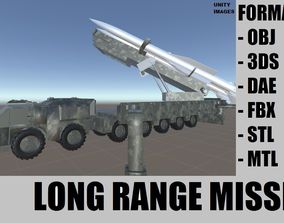 Long Range Missile 3D model