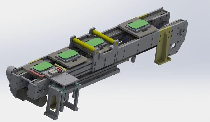 with jacking and cleaning function conveyor 3d model max obj mtl 3ds fbx stl sldprt sldasm slddrw 1