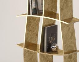 3D model partition Bookcase Rack - Gold Leaf