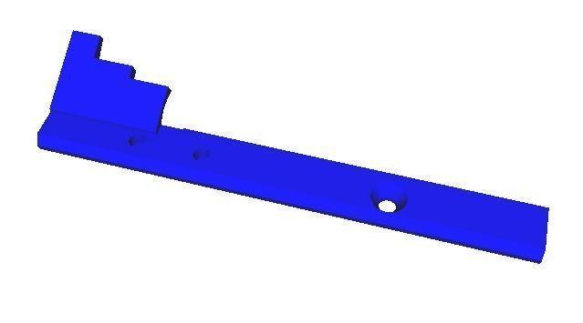 m4 charging handle extension 3d model stl 1