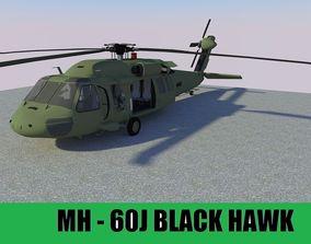 3D asset VR / AR ready MH-60 Black Hawk