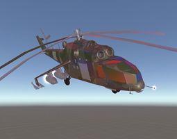 3D asset MI-24 Helicopter