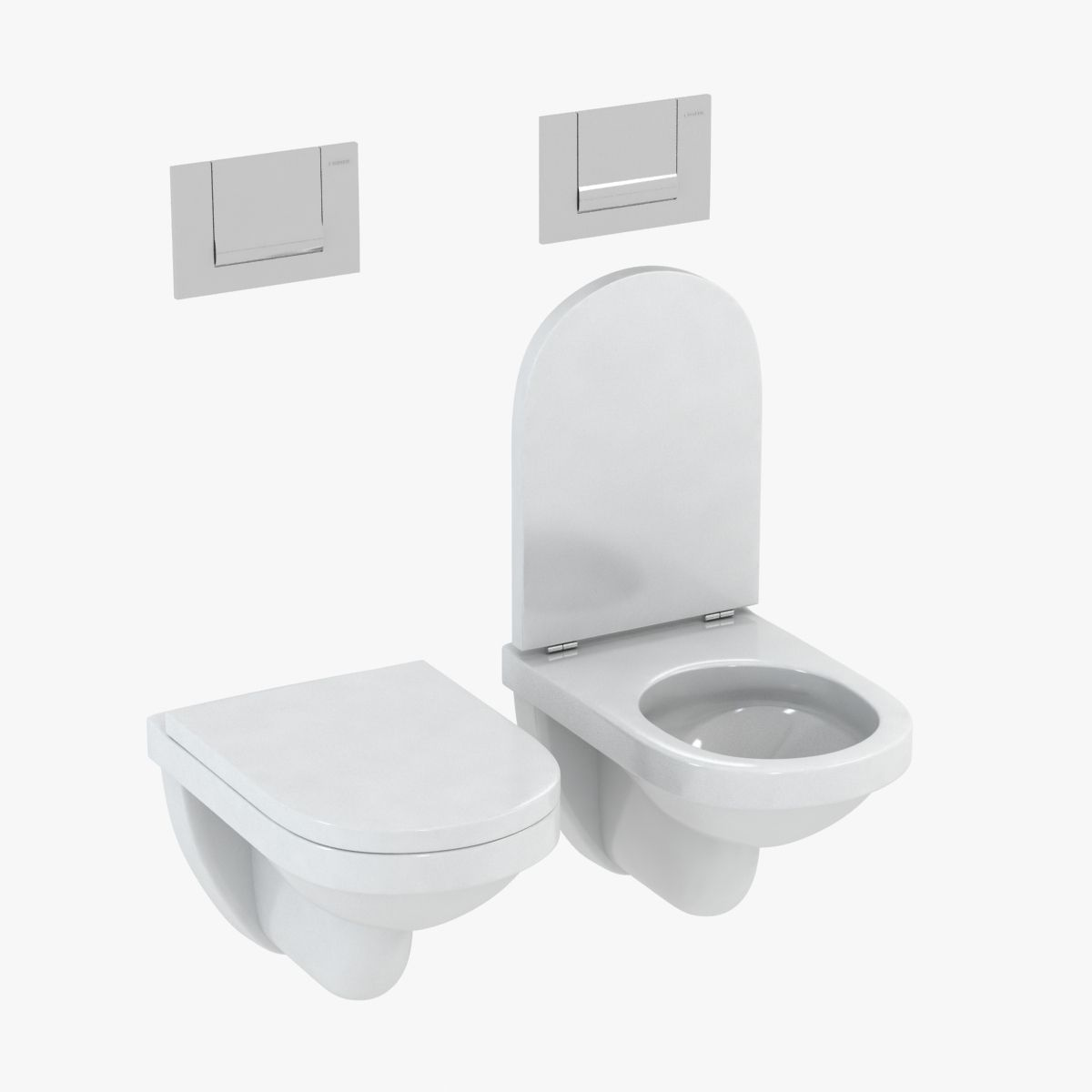 3D Duravit Happy D Toilet | CGTrader