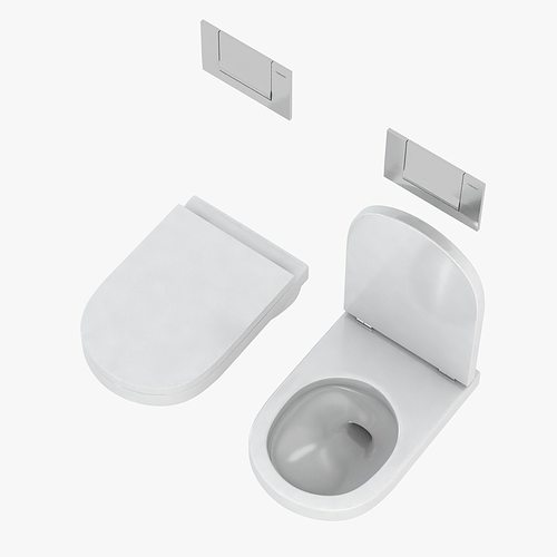 duravit happy d toilet 3d model max obj 3ds fbx mtl 2