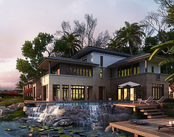 3D model architectural House