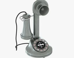 3d crosley old candlestick phone