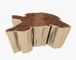 Brabbu Sequoia Center Table 3D