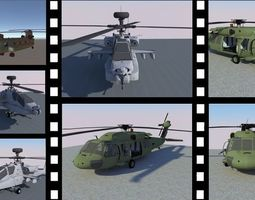 HELICOPTER PACKAGE 3D asset low-poly