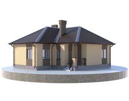 Residential house BP-20 3D model PBR