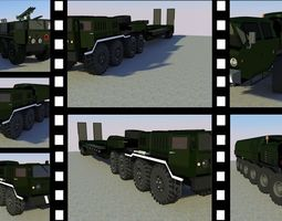 MILITARY FREIGHT TRUCK PACKAGE 3D asset