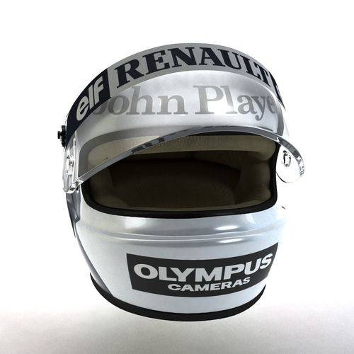 elio de angeles helmet 1985 3d model low-poly rigged max obj mtl 3ds fbx 1