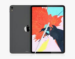iPad Pro 11 Gray and Pencil 2018 3D model