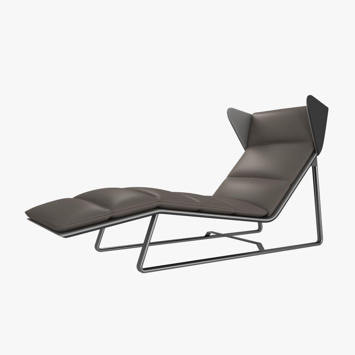 esedra romea modern chaise lounge d model max obj ds fbx mtl  . esedra romea modern chaise lounge d model  cgtrader