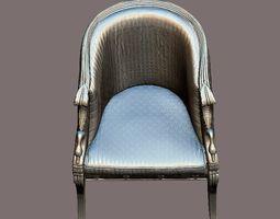 3D model Chair with swan armrest