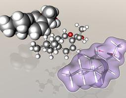 Ibuprofen molecule 3D model