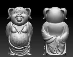 Sculpture of pig 3D print model
