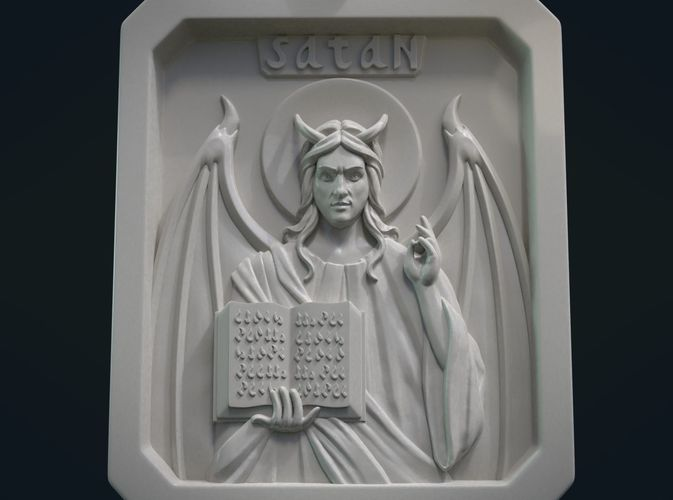 satan relief and pendant 3d model obj mtl fbx stl blend dae 1