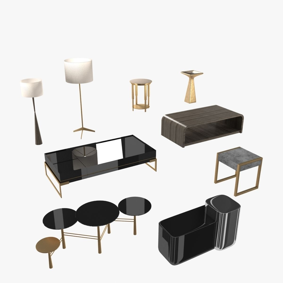 Lamps and tables furniture collection