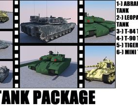 3D asset animated Tank Package