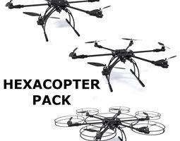 3d model hexacopter pack