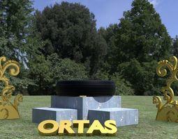ORTAS TIRE NO 7 GAME READY 3D asset