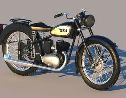 3D BSA Bantam D1 motorcycle
