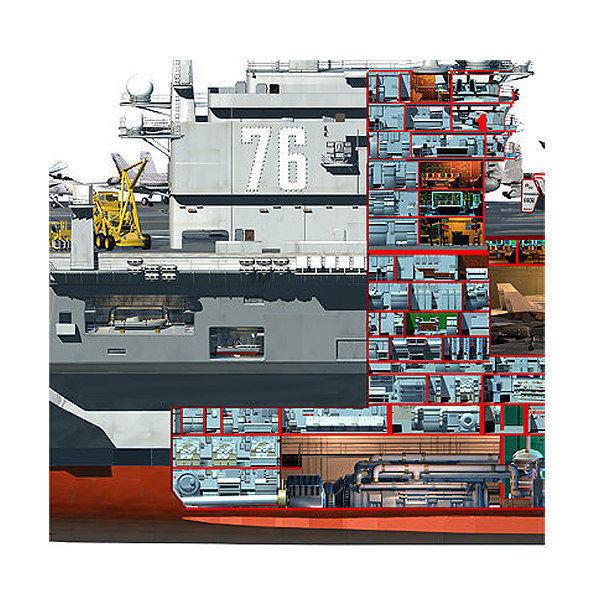 USS Ronald Reagan Aircraft Carrier Cutaway CVN76