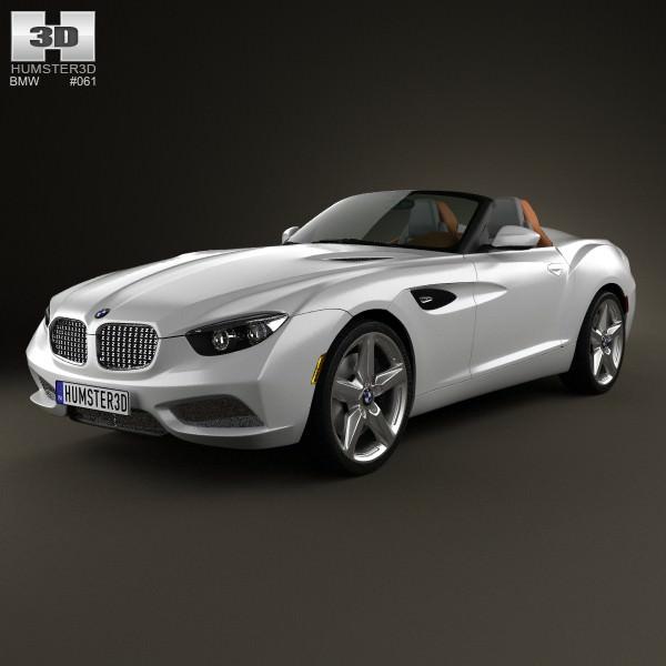 Bmw Zagato: BMW Zagato Roadster 2012 3D Model MAX OBJ 3DS FBX C4D LWO