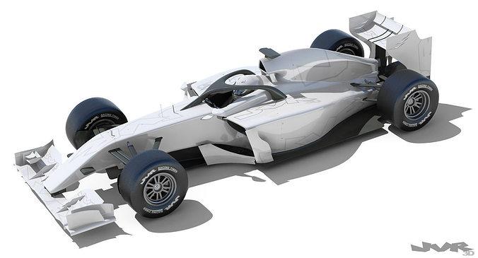 generic f1 2015-2016 race car 3d model max obj mtl 3ds fbx 3dm pdf 1