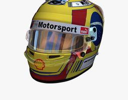 3D model Augusto Farfus helmet 2018