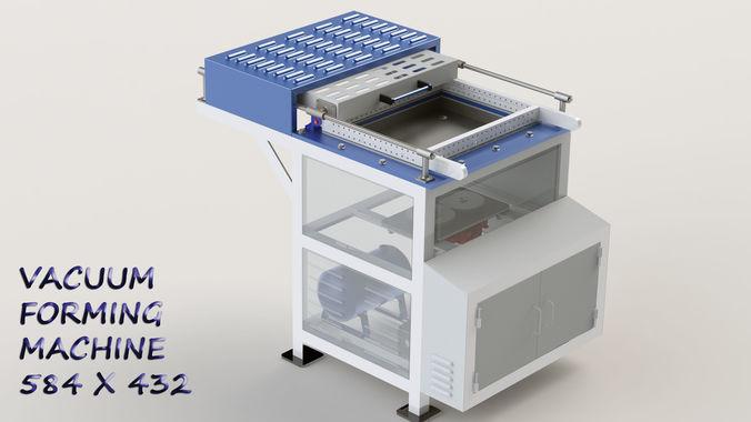 vaccum forming machine 3d model sldprt sldasm slddrw ige igs iges stp 1