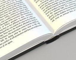 3D asset Opened Book