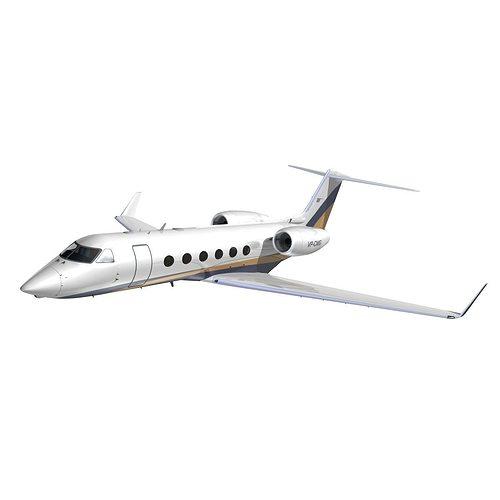 gulfstream 450 arab wings 3d model animated max obj mtl 3ds lwo lw lws hrc xsi dxf 1