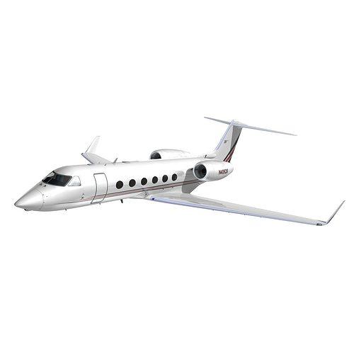 gulfstream 450 netjets aviation 3d model animated max obj mtl 3ds lwo lw lws hrc xsi dxf 1
