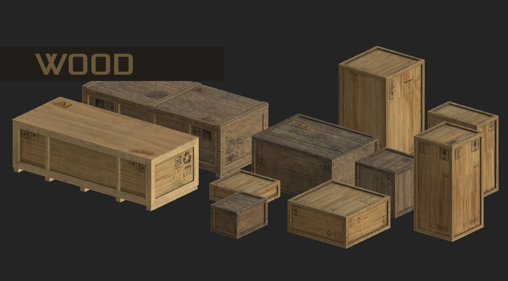 apocalyptic interior cargo transport crates pack