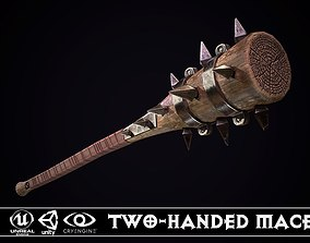 3D asset Two-handed Mace