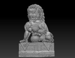 guardian lion 3D print model