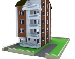 Architectural Project Five-story tonoz roof 3D