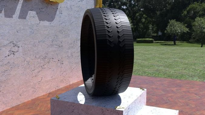 ortas tire no 45 game ready 3d model obj mtl fbx stl 1