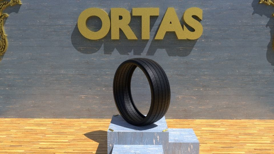 ORTAS TIRE NO 12 GAME READY AND 3D PRINTABLE