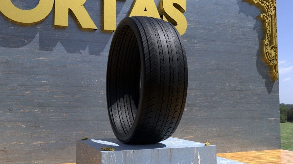 ORTAS TIRE NO 21 GAME READY AND 3D PRINTABLE