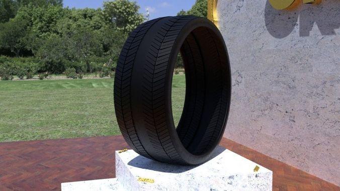 ortas tire no 26 game ready and 3d printable 3d model obj mtl fbx stl 1