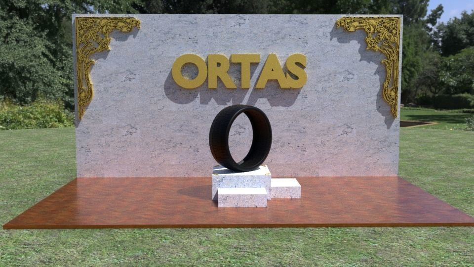 ORTAS TIRE NO 28 GAME READY AND 3D PRINTABLE